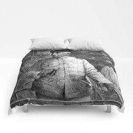 Admiral Dewey At Sea Comforters