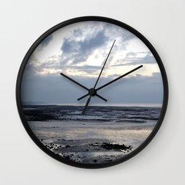 Reculver Bay at Sunset Wall Clock