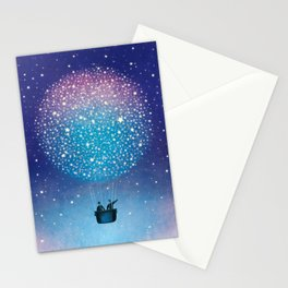 Stars Balloon Stationery Cards