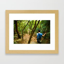 Forest Hiker Framed Art Print