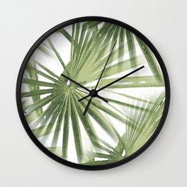Tropical Beach Palm Vector Wall Clock