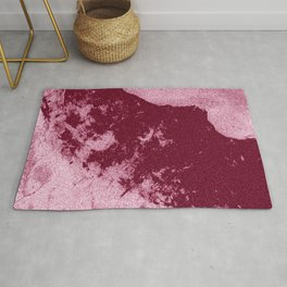 Abstract - Red Rum Rug