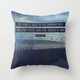 Psalm 34:18 Throw Pillow