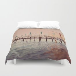 Sorrento pier Duvet Cover