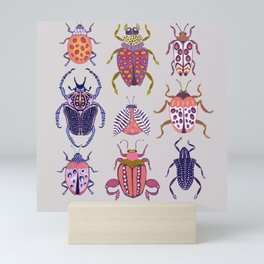 Assorted Beetles Mini Art Print