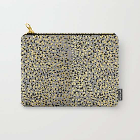 Colvi - leopard animal print gold black and white gender neutral modern trendy non binary art decor Carry-All Pouch