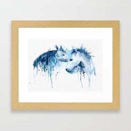 Watercolor Horse Love Framed Art Print