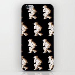 Space Cowboy - Black, white & camel iPhone Skin