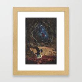 Raven's Night Framed Art Print