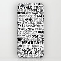 word iPhone & iPod Skins featuring Word by Etiquette