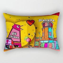 Marietta Popart 2018 by Nico Bielow Rectangular Pillow