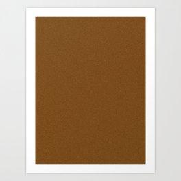 Chocolate Brown Saturated Pixel Dust Art Print