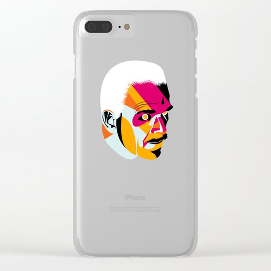 head_131112 Clear iPhone Case