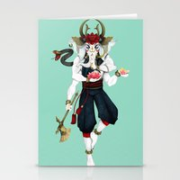 ganesha Stationery Cards featuring Ganesha by Yoke Tan