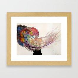 Jellyfish Brain Framed Art Print