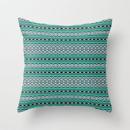 Aztec Striped Colorful Print Pattern Throw Pillow