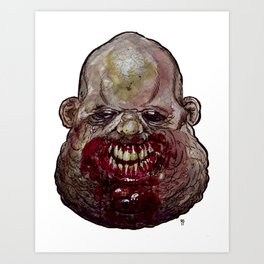 Heads of the Living Dead Zombies: Big Eater Art Print
