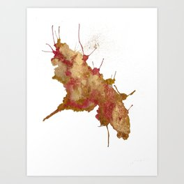 Smushed Butterfly Art Print