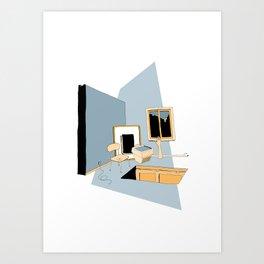 Floor Door | Blue Art Print