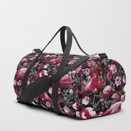 Floral and Flamingo VIII pattern Duffle Bag