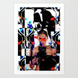 The girl of surealism Art Print