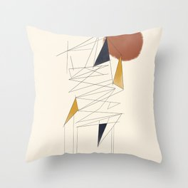 shapes and lines Throw Pillow