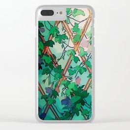 Enchant Botanical Dream Garden Clear iPhone Case