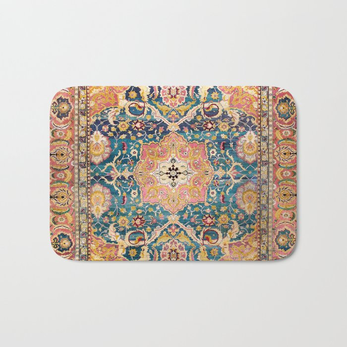 Amritsar Punjab North Indian Rug Print Bath Mat