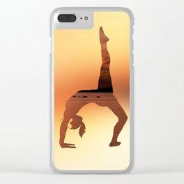 Yoga - One Legged Wheel Pose Clear iPhone Case