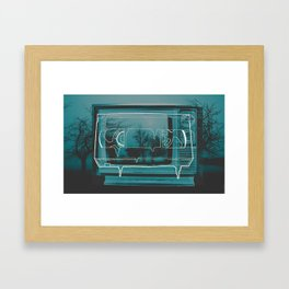 PLAYBACK. Framed Art Print