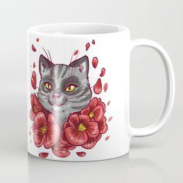 Flowers cat Coffee Mug
