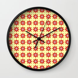 Stars 6- sky,light,rays,pointed,hope,estrella,mystical,spangled,gentle. Wall Clock