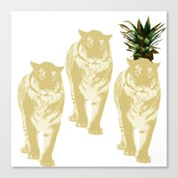 tigers Canvas Prints featuring tigers by vica