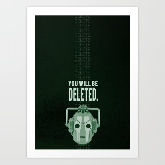Doctor Who: Cybermen Print Art Print