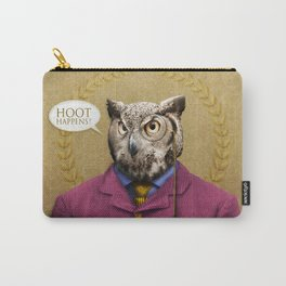 "Mr. Owl says: ""HOOT Happens!"" Carry-All Pouch"