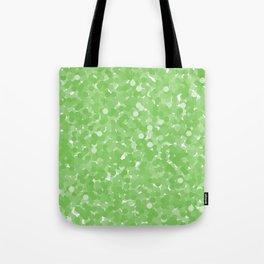 Green Flash Polka Dot Bubboles Tote Bag