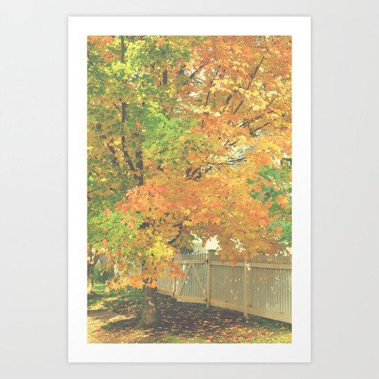 Autumn Gate Art Print