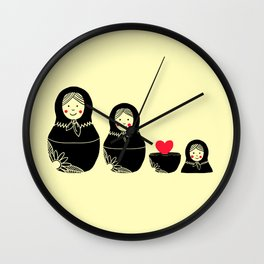 Love Inside Wall Clock