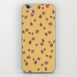 Peppermint Candy in Yellow iPhone Skin
