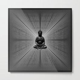 Spacial Energy Buddah Mesh Metal Print