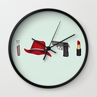 peggy carter Wall Clocks featuring Peggy Carter Items by HayPaige