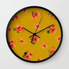 Flower carpet 16 Wall Clock