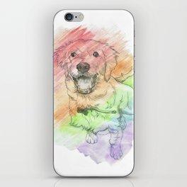 Golden Retriever Puppy Drawing iPhone Skin