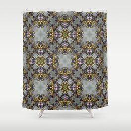 Holy Cross From Glass Bead Shower Curtain