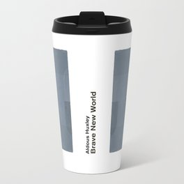 "Aldous Huxley ""Brave New World"" - Minimalist illustration literary design, bookish gift Travel Mug"