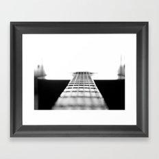 The Black Guitar Framed Art Print