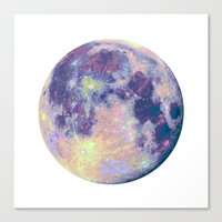 the moon Canvas Prints featuring Moon by Marta Olga Klara