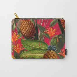 Vintage & Shabby Chic - Hot Summer Pineapple Tropical Flower Garden Carry-All Pouch