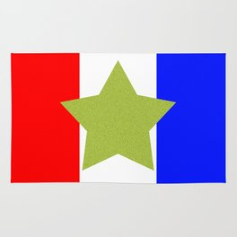 Design4 Red White and Blue Rug