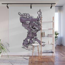 Anarchy Skeleton - Amethyst Smoke Wall Mural
